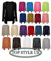 NEW  BOYFRIEND CARDIGAN WOMENS LADIES LONG SLEEVE OPEN POCKET JUMPER TOP