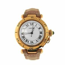 Cartier Pasha 18k Yellow Gold Date Display Automatic Ladies Watch 1035.1