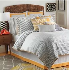 Jill Rosenwald Plimpton Flame Pearl Bed Collection 4Pc Queen Comforter Set New