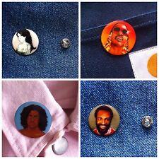 Fools Gold X Bobzilla Soul Folk 4 Pin Badge Pack - Amy Winehouse Prince Stevie