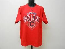 Neuf- Cleveland Indians Hommes Large (L) Rouge Chemise par Majestic