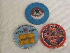 New Listing20 and 30 year Anniversary Carnival Cruise 5 Casino Chips Plus $1 Chip
