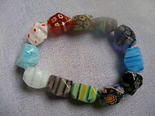 REBAJAS PRECIOSA pulsera elástica de gomas  MUJER multicolor de roca con dibujos