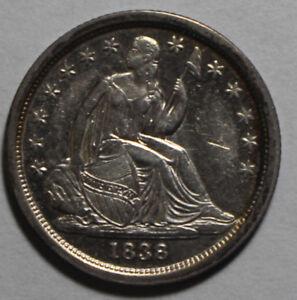 1838 Seated Liberty Dime LCC111