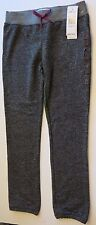 NWT Roxy Girl's M 12-14 True Black Heather Pink Logo Sweatpants Pants Bottoms