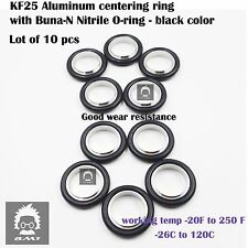 KF25 NW25 Aluminum vacuum Centering Ring  with Oring = Buna-N (10 pcs pack)