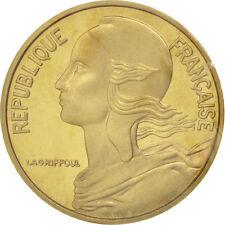 Monnaies, Vème République, 5 Centimes Marianne 1974, Piéfort, KM P488 #92009