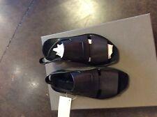 Rick Owens Black Leather Slip On Sandals 37