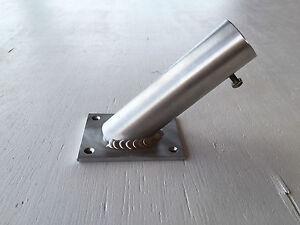 Flag Pole Holder Wall Mounted Bracket Will Accept 32mm Aluminium No Rust Fixings