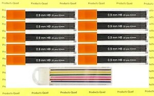 0.9 mm Mechanical pencil lead refills .9mm leads refills, 200 leads. FREE COLOR