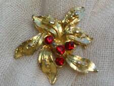 Gold Plated Diamante Vintage Costume Jewellery (1970s)