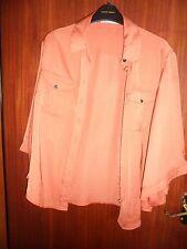 Karen Millen burnt orange shirt blouse size 12 bell sleeves collared