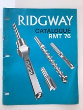 VINTAGE- 1976 - RECORD RIDGWAY (SHEFFIELD) WOODWORKING TOOL CATALOGUE - 21 PAGES