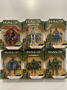 Halo Infinite XBOX Halo Action Figures With Game Add-On Series 1 Lot Of 6