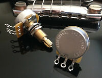 CTS TAOT CUSTOM 500K Pot LONG Split Shaft Audio Taper - 10% Tolerance PAIR (2X)
