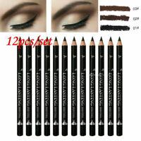 12PCS Waterproof Eye Brow Eyeliner Eyebrow Pen Pencil Makeup Cosmetic Kits Set