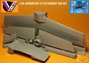 """1/48. Dornier Do-17/215 correct tail resin set, by """"Vector"""" VDS 48-082"""