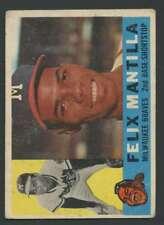 1960 Topps #19 Felix Mantilla GVG Braves 30312