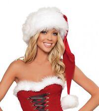 Weihnachtsmann Mütze Santa Hat X-mas Samt Pelzimitat Made in USA