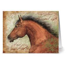 24 Note Cards - Wind Horse - Kraft Envs