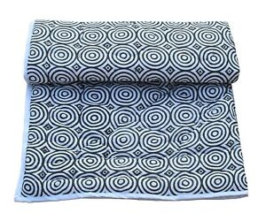 Indian Cotton Baby Toddler Kantha Bedspread Blanket Quilt Throw Ethnic Coverlet