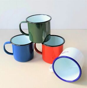 Falcon Traditional All colours Enamel Mugs 8cm and 9cmHalf Pint Camping Mugs Cup