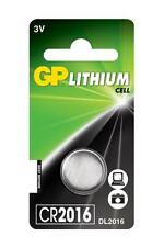 3x GP 2016 3V Lithium Coin Cell Batteries CR2016 DL2016 Battery - New