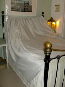 DOOR CURTAIN - HEAVY AND WIDE - FULLY LINED - EYELETS - ELEGANT ~Fleur~