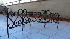 Saratoga Staccionata steccato bordure recinzione aiuole giardino ferro battuto