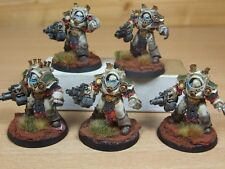 5 FORGEWORLD DEATH GUARD GRAVE WARDENS VERY WELL PAINTED (375)