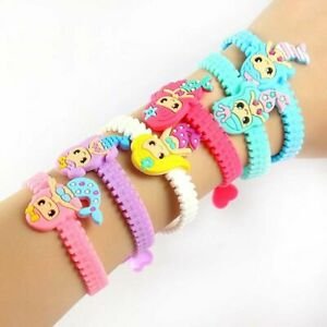 10 Pcs/Lot Mermaid Bangle Bracelet Birthday Party Decor Baby Shower Party Favors