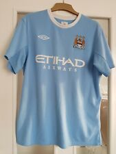 Manchester City Football Shirt Size Large Number 3 On The Back