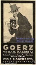 Goerz Kamera Reklame von 1920 Fotografin Berlin Friedenau Werbung Hut Camera +