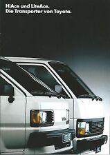 Auto Van Truck Brochure - Toyota - HiAce LiteAce - GERMAN prospekt c1988 (T2139)