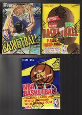 1988 1989 1990 FLEER BASKETBALL WAX BOX LOT *BBCE CERTFIED* JORDAN PIPPEN MILLER