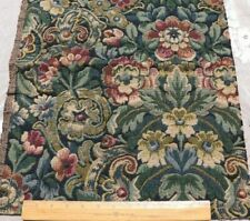 French 19thc Antique Cotton/Wool Jacquard Tapestry Aubusson Style Fabric Sample