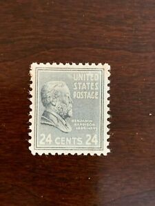 US Stamps, Scott #828 24c Harrison M/NH 1938 Pres Issue