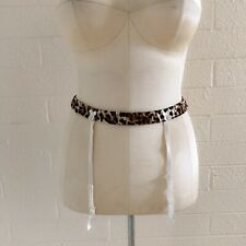 Victoria's Secret Elastic Waist Cheetah Print Garter Belt, Medium