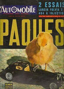 L'AUTOMOBILE 228 1965 PEUGEOT 404 INJECTION LANCIA FULVIA 2 C RECORD DE VITESSE