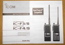 + Icom IC-F3/S IC-F4/S Hand Held Transceiver Instruction Manual Free Shipping