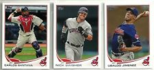 2013 Topps 18-card Cleveland Indians Baseball Team Set  Michael Bourne