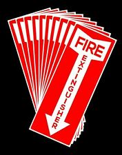 """10 PACK SELF-ADHESIVE FIRE EXTINGUISHER ARROW SIGNS - 4.25"""" X 11""""  BRAND NEW"""