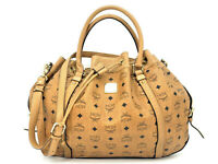 MCM Tasche Visetos Bag cognac Shopper Handtasche Henkeltasche Drawstring Large