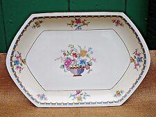 "MZ Altrohlau CM-R Czechoslovakia BERKSHIRE 13"" Platter PURPLE BASKET FLOWERS"