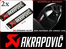 AKRAPOVIC STICKER Exhaust Pipe Labels Motorcycle Badge Emblem Logo Decal