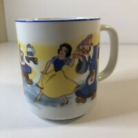 Vintage Snow White & the 7 Dwarfs Coffee Cup Mug Disneyland Disneyworld Japan