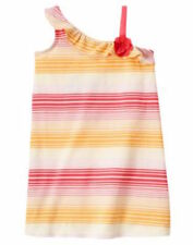 NWT~Gymboree GLAMOUR SAFARI striped one shoulder ruffle sundress~8