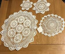 Various white cotton lace doilies 6 options, 100% Cotton, From 2 for a £1
