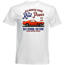 VINTAGE AMERICAN CAR FORD MUSTANG BOSS 302 - NEW COTTON T-SHIRT