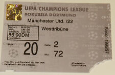 Ticket for collectors CL BVB Borussia Dortmund Manchester United Germany England